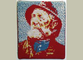Leslie Eisinger, gebreid portret, dorus rijkes